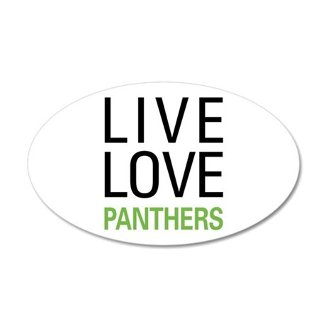 Live Love Panthers 20x12 Oval Wall Decal