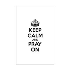 Keep calm and pray on Posters