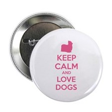 "Keep calm and love dogs 2.25"" Button (10 pack)"