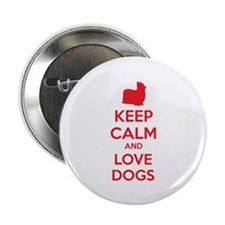 "Keep calm and love dogs 2.25"" Button (100 pack)"