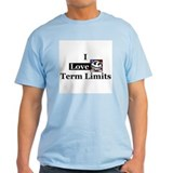 I Love Term Limits Ash Grey T-Shirt
