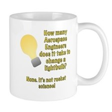 Aerospace Engineer Lightbulb Joke Mug