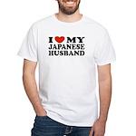 I Love My Japanese Husband White T-Shirt