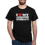 I Love My Japanese Husband Black T-Shirt