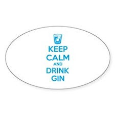Keep calm and drink gin Stickers
