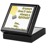 Drummer lightbulb joke Keepsake Box