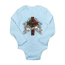Grant Tartan Cross Long Sleeve Infant Bodysuit