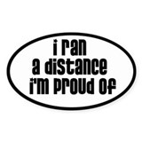 I ran a distance Im proud of Decal