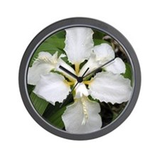 White Lilly - Wall Clock