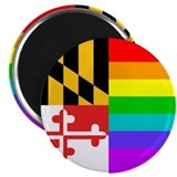 MD Rainbow Flag Magnet