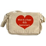 Wish us a Happy 4th Anniversary Messenger Bag