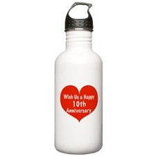 Wish us a Happy 10th Anniversary Water Bottle