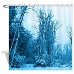 Evening snow Shower Curtain