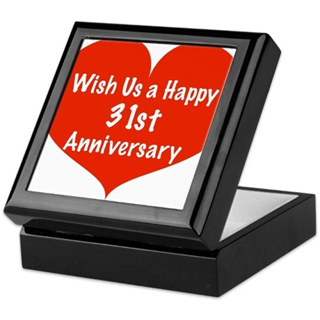 Wish Us A Happy 31st Anniversary Keepsake Box By Listing Store 11989343