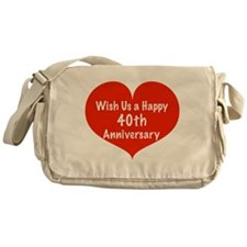Wish us a Happy 40th Anniversary Messenger Bag