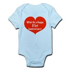 Wish us a Happy 51st Anniversary Infant Bodysuit