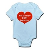 Wish us a Happy 60th Anniversary Infant Bodysuit