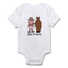 Best Friends Horse Cowgirl Infant Bodysuit