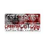 Creepercast Regular Aluminum License Plate