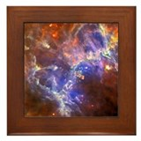 Ghostly Pillars of Outer Space Framed Tile