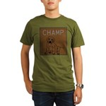 OYOOS Champ Dog design Organic Men's T-Shirt (dark