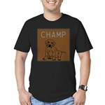 OYOOS Champ Dog design Men's Fitted T-Shirt (dark)