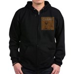 OYOOS Champ Dog design Zip Hoodie (dark)