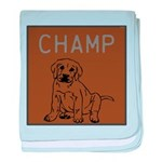 OYOOS Champ Dog design baby blanket