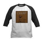 OYOOS Champ Dog design Kids Baseball Jersey