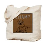 OYOOS Champ Dog design Tote Bag