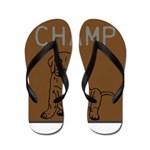 OYOOS Champ Dog design Flip Flops