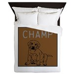 OYOOS Champ Dog design Queen Duvet