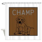 OYOOS Champ Dog design Shower Curtain