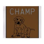 OYOOS Champ Dog design Throw Blanket