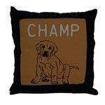 OYOOS Champ Dog design Throw Pillow