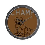 OYOOS Champ Dog design Wall Clock