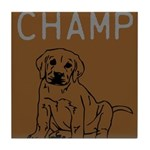 OYOOS Champ Dog design Tile Coaster
