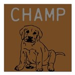 OYOOS Champ Dog design Square Car Magnet 3