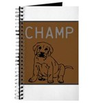 OYOOS Champ Dog design Journal