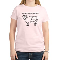 Know Your Cuts of Lamb Women's Light T-Shirt
