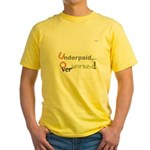 OYOOS Work design Yellow T-Shirt
