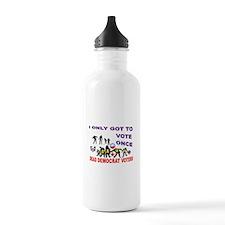VOTER DEMOCRAT FRAUD Water Bottle