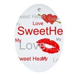 OYOOS Swee Heart design Ornament (Oval)