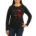 OYOOS Swee Heart design Women's Long Sleeve Dark T