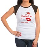 OYOOS Swee Heart design Women's Cap Sleeve T-Shirt