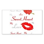 OYOOS Swee Heart design Sticker (Rectangle 10 pk)