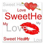 OYOOS Swee Heart design Square Car Magnet 3