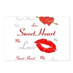 OYOOS Swee Heart design Postcards (Package of 8)