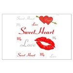 OYOOS Swee Heart design Large Poster
