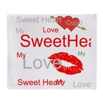 OYOOS Swee Heart design Throw Blanket